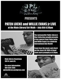 Paten Locke and Willie Evans Jr live at Artwalk!